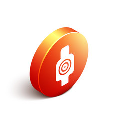 isometric human target sport for shooting icon vector image