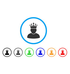 king rounded icon vector image