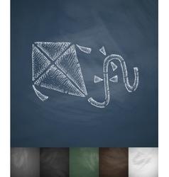 Kite icon Hand drawn vector