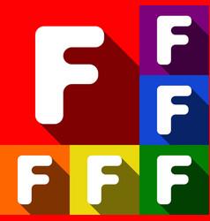 letter f sign design template element set vector image