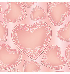 love hearts seamless pattern valentines day vector image