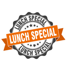 Lunch special stamp sign seal vector