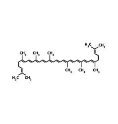 Lycopene is a chemical molecular formula vector