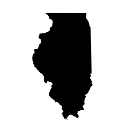map of the US state Illinois vector image