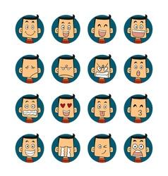 Men emotions faces vector