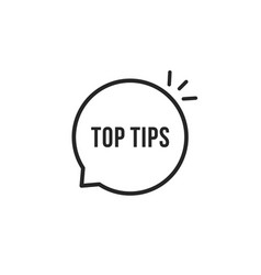 Minimal thin line top tips icon vector