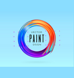 modern colorful flow frame fluid acrylic vector image