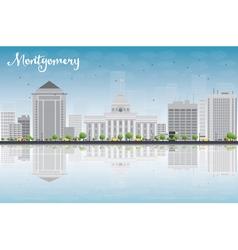 Montgomery skyline vector