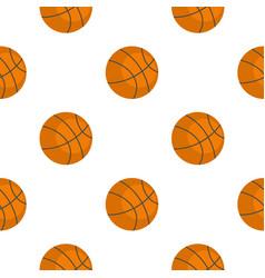 Orange basketball ball pattern flat vector