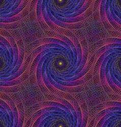 Pink blue string fractal spiral background vector