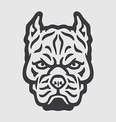 Pitbull Head Logo Mascot Emblem vector