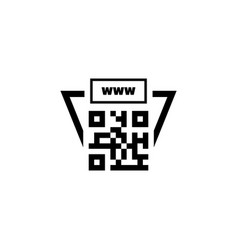 Qr code link to site flat icon vector
