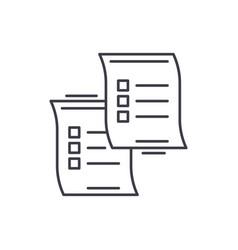 questionnaires line icon concept questionnaires vector image