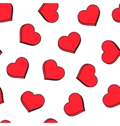 Red hearts seamless pattern Good for textile and vector image