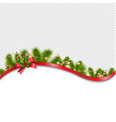 red xmas background with red bow vector image