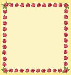 Roses flourishes frame vector