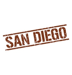 San Diego brown square stamp vector image