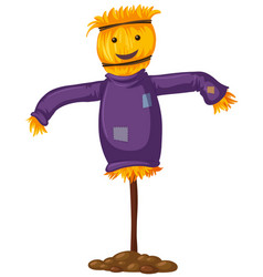 scarecrow with happy smile vector image