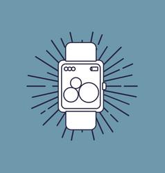smartwatch device icon vector image