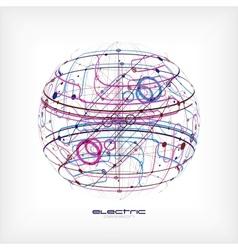Sphere circuit vector image