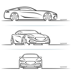 Sports car silhouettes vector