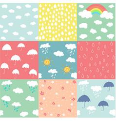 spring pattern set vector image