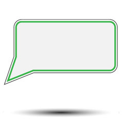 Sticker speech bubble vector image