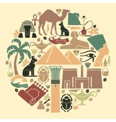 Symbols Of Egypt vector image