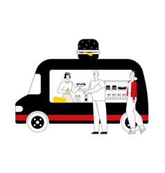 take away food fast food flat vector image