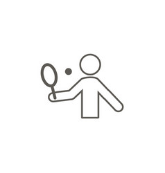 tennis man icon simple element from map and vector image
