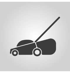 The lawn mower icon Grass symbol Flat vector image