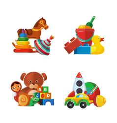 toys presents teddy bear tipper pyramid tumbler vector image