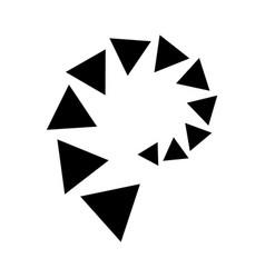 Triangle line divider design footer modern border vector