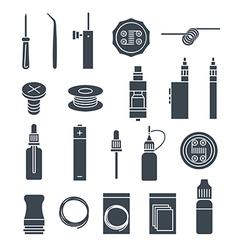 Vape icons set vector