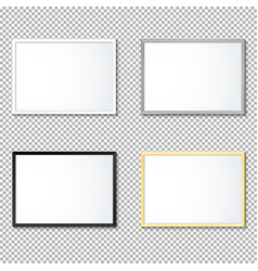 various frame mockup template set vector image