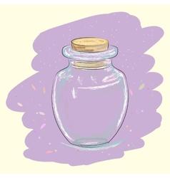Vintage glass jar vector