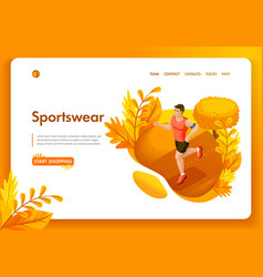 website template design isometric concept vector image