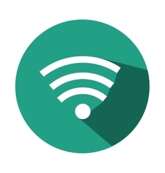Wifi sign isolated icon vector