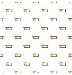 Wood book shelf pattern seamless vector