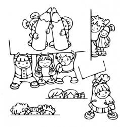 fun kids for school design vector image vector image