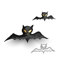 Halloween monsters spooky vampire bats isolated vector