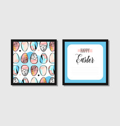 hand drawn abstract creative easter vector image vector image