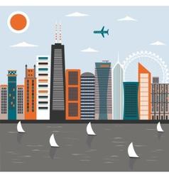 Modern city vector