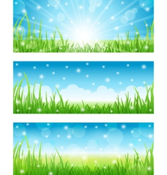 set of summer abstract background vector image vector image