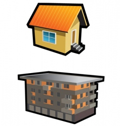 two houses vector image