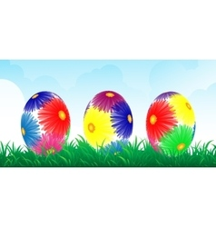 Colour easter banner vector image vector image