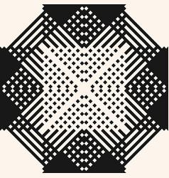 modern ethnic style ornament monochrome geometric vector image vector image