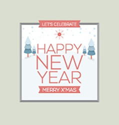 New Year Card Vintage Style vector image