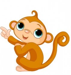 cartoon baby monkey vector image vector image