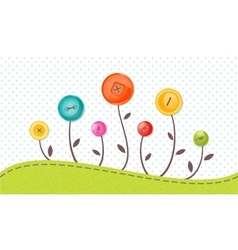 greeting card with cute flowers Perfect vector image vector image